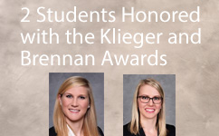 2 MCW Students Honored with the Klieger and Brennan Student Award