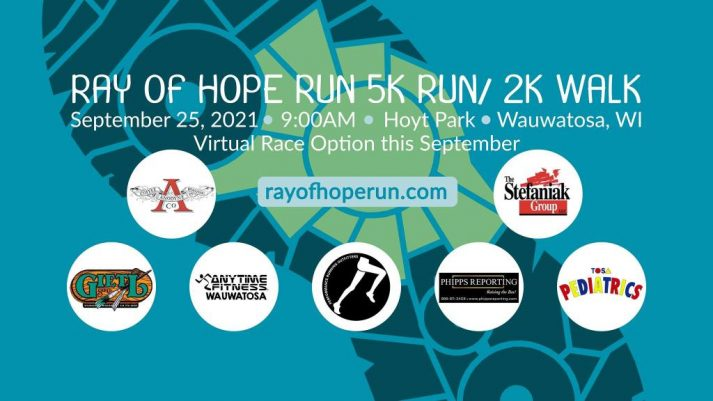 Ray of Hope 5K Run/ 2K Walk for Ovarian Cancer Research (in person race with virtual option) @ Hoyt Park 1800 N Swan Blvd Wauwatosa, WI US 53226
