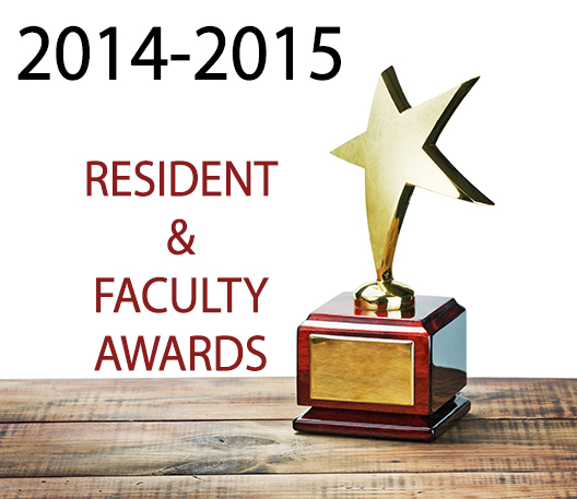 2014-2015 Awards for Residents & Faculty