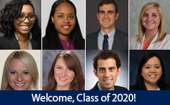 Welcome Obstetrics & Gynecology Resident Class of 2020