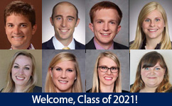 Welcome Obstetrics & Gynecology Resident Class of 2021