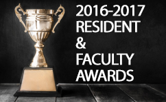 2016-2017 Awards for Residents & Faculty