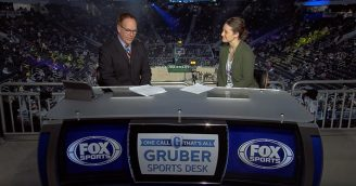 Dr. Jessica Francis interviewed by Fox Sports for Bucks Pride Night